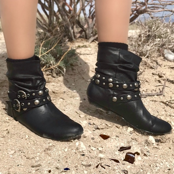 8d1dc2d61f5 Chinese Laundry Shoes - Chinese Laundry Black Vegan Leather Ankle Boots